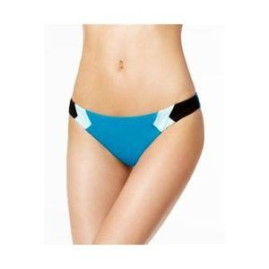 Bar III Teal Colorblock Hipster Bikini Bottoms